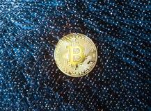 Moeda digital de Bitcoin Fotografia de Stock