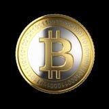 Moeda digital dourada de Bitcoin Imagem de Stock