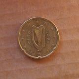 Moeda do centavo de Euro do irlandês 20 Imagem de Stock Royalty Free