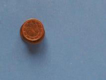 1 moeda do centavo, União Europeia, Alemanha com espaço da cópia Imagens de Stock