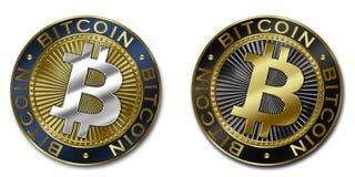 Moeda do cryptocurrency de Bitcoin Ilustração Royalty Free