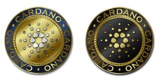Moeda do cryptocurrency de CARDANO Imagens de Stock