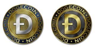Moeda do cryptocurrency de DOGECOIN Ilustração do Vetor