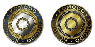 Moeda do cryptocurrency de KOMODO Ilustração Stock