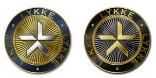 Moeda do cryptocurrency de LYKKE Ilustração do Vetor