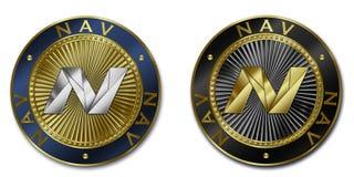 Moeda do cryptocurrency de NAV Ilustração Royalty Free