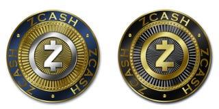 Moeda do cryptocurrency de ZCASH Imagem de Stock Royalty Free