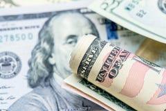 Moeda do dólar americano Imagens de Stock Royalty Free