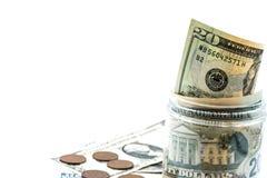 Moeda do dólar americano Foto de Stock Royalty Free