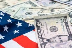 Moeda do dólar americano, Fotografia de Stock Royalty Free