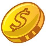 Moeda do dólar do ouro Fotografia de Stock Royalty Free