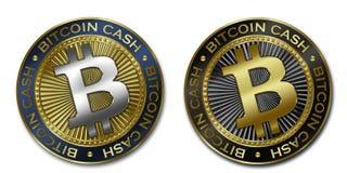 Moeda do DINHEIRO de Cryptocurrency BITCOIN Ilustração Stock