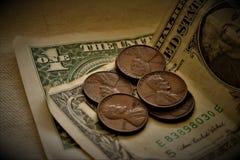 Moeda do Estados Unidos da América fotos de stock royalty free