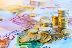 Moeda do Euro Fotos de Stock