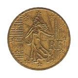 moeda do euro- centavo 50, França, Europa Fotografia de Stock