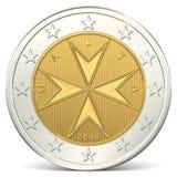 Moeda do euro dois Foto de Stock