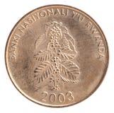 Moeda do franco de Ruanda Fotografia de Stock Royalty Free