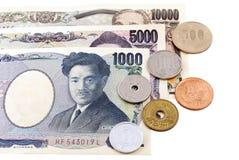Moeda do iene japonês Imagens de Stock Royalty Free