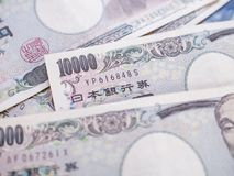 Moeda do iene japonês, dinheiro de Japão Fotografia de Stock Royalty Free