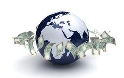 Moeda do indiano do negócio global Foto de Stock