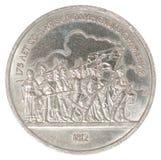 Moeda do rublo de russo Foto de Stock