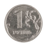 Moeda do russo um rublo Imagens de Stock