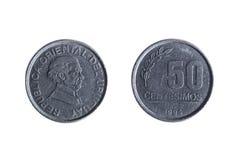 Moeda do uruguayan de cinqüênta centavos Fotos de Stock Royalty Free