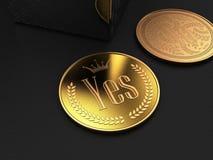 A moeda do Yes ilustração do vetor