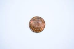 Moeda dos E.U. 1 centavo Fotos de Stock Royalty Free