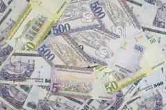 Moeda dos Riyals do saudita, notas novas Fotografia de Stock