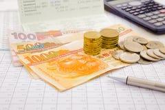 Moeda e papel moeda de Hong Kong Imagens de Stock Royalty Free