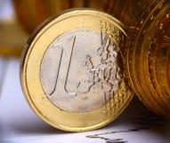 Moeda européia Imagens de Stock