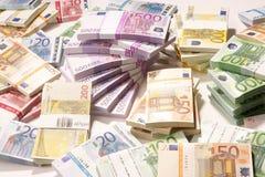 Moeda européia - euro Fotografia de Stock