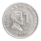 Moeda filipino 1 do piso Imagens de Stock