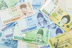Moeda ganhada para o sul coreana Fotografia de Stock