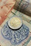 Moeda grega do Euro foto de stock