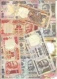 Moeda internacional - notas da rupia indiana Imagem de Stock