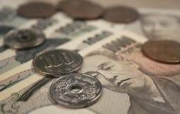 Moeda japonesa Fotografia de Stock