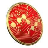 A moeda NANO Nano 3d rende Fotografia de Stock Royalty Free