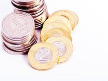 Moeda nas moedas Foto de Stock