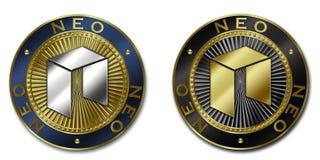 Moeda NEO do cryptocurrency Ilustração Stock