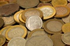 Moeda nova do rublo Imagem de Stock Royalty Free