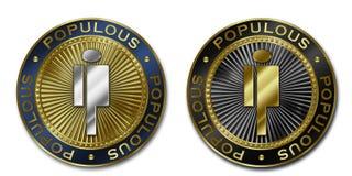 Moeda POPULOSO de Cryptocurrency Ilustração Royalty Free