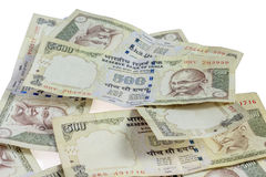Moeda proibida indiano da rupia 500 Fotografia de Stock