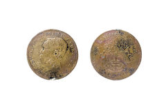 moeda rara velha de 1860 cambodia fotos de stock royalty free