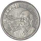 Moeda real brasileira de 50 centavos Imagens de Stock Royalty Free