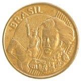 Moeda real brasileira de 10 centavos Fotografia de Stock