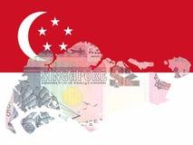 Moeda singapurense Foto de Stock