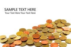 A moeda tailandesa do dinheiro com texto da amostra Foto de Stock