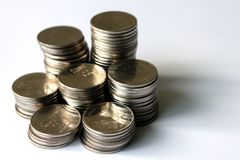 Moeda tailandesa do dinheiro do banho Fotografia de Stock